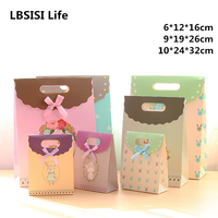 12pcs Cute Animal Love Dot Birthday Candy Hand Bags Treat Bag Wedding Favors Cookie Candy Box Gift Bags With Paste Bow-knot