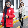Girl's Cotton-padded Clothes Smiling Face Jackets/coats Winter Russia Baby Coats Thick Warm Jacket Children Outerwears Jackets