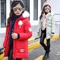 Roupas da menina do Algodão-acolchoado Rosto Sorridente Jaquetas/casacos de Inverno Rússia Bebê Casacos Outerwears Grossas Crianças Casaco Quente jaquetas