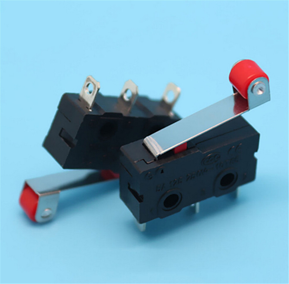 5Pcs Micro Roller Lever Arm Open Close Limit Switch KW12-3 PCB Microswitch TOxj