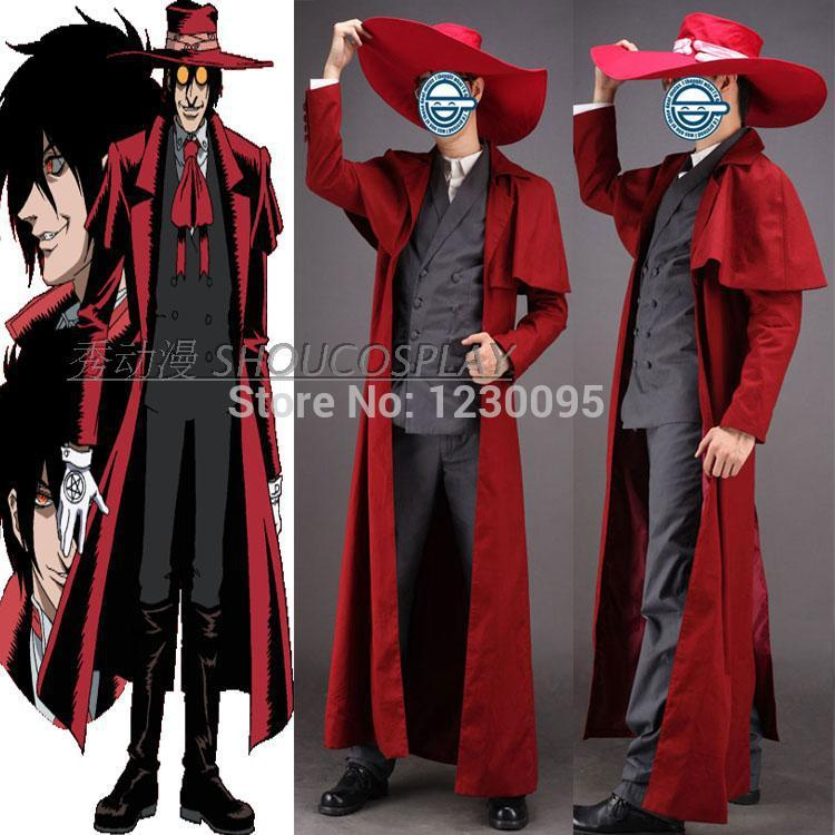 Hellsing Alucard Cosplay Costume only coat hat Costume