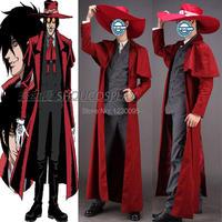 Hellsing Alucard Cosplay Costume only coat hat Costume