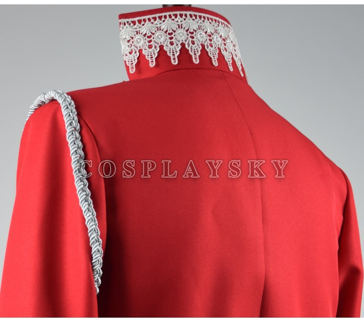 Once Upon a Time Prince Charming Red Uniform Outfit With Cloak Cosplay Costume_05 (1)