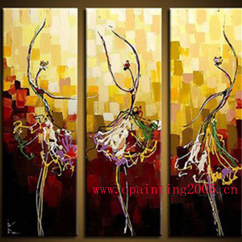 Hand Painted Picture On Canvas Abstract Ballet Oil Painting Hang ...