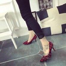 อารมณ์ย้อนยุคที่มีคุณภาพสูงกลืนตารางใหม่สไตล์ยูโรร้อนขายชี้เท้ากริชวินเทจรองเท้าผู้หญิงซีเมนต์หวาน
