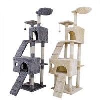 Fast Global Shipping Cat Climbing Toy Cat House Kitten Climbing Frame Cat Tree Playing Training For Fun Cat Scratching Post