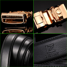 High Quality Genuine Leather Silver / Gold Automatic Buckle Belt