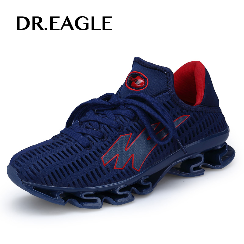 DR.EAGLE men's running shoes Man sneakers breathable mesh jogging mens trainers krasovki male sports shoes plus size 39-48 цена 2017