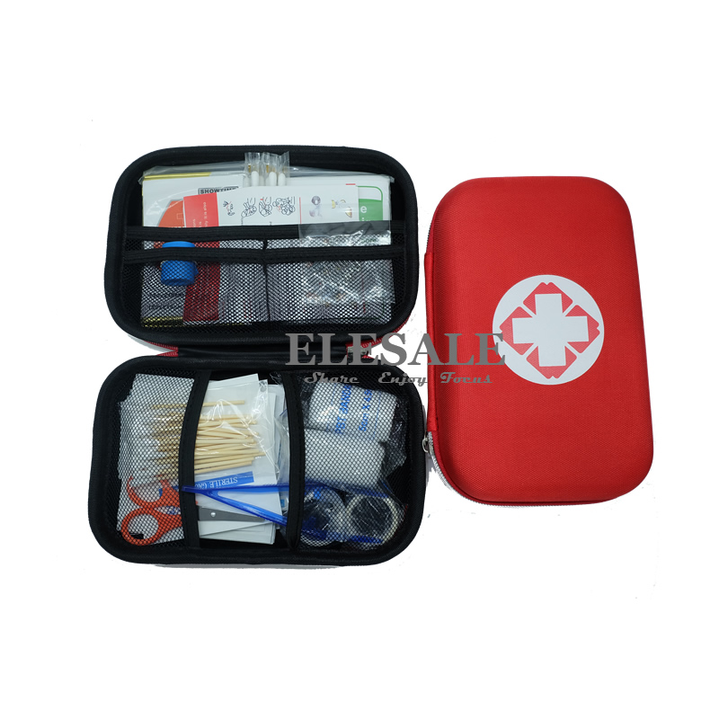 New 17 Items/93pcs First Aid Emergency Kit EVA Pouch Car Bike Home Medical Bag Outdoor