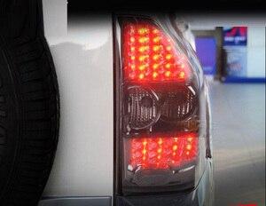 Image 3 - 1 takım Araba Styling için pajero arka lambaları montero V73 LED 2003 ~ 2008 araba aksesuarları pajero Lambası arka işık DRL + fren + Parkı + Sinyal