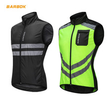 WOSAWE High Visibility Motorcycle Men Sleeveless Water Resistance Motocross Clothes Windbreaker Moto Reflective Safety Jacket цена