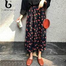 cb0930f4d Compra orange print skirt y disfruta del envío gratuito en ...