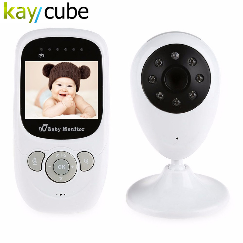 Wireless Baby Monitor With Night Vision Two-way Talk Baby Sleep Monitor 2.4 inch LCD Display Temperature Monitoring SP880 7 inch baby monitor 2x night vision camera set two way