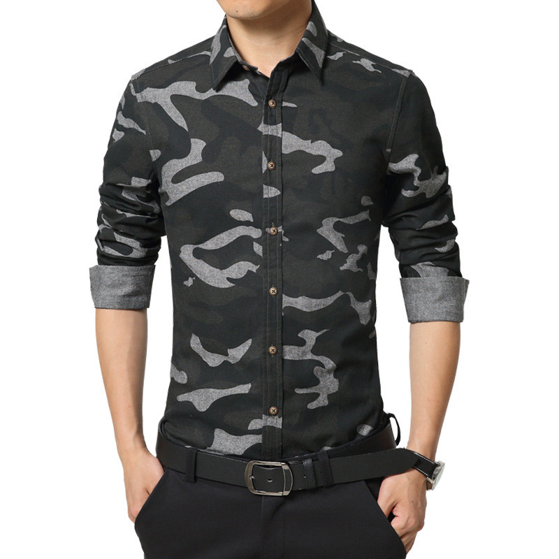 2 Color long sleeve Military style men Shirt casual male shirt Man Casual  Camouflage shirt Men Army Tactical Combat casual Shirt-in Casual Shirts  from Men s ... 69aebb5ac065
