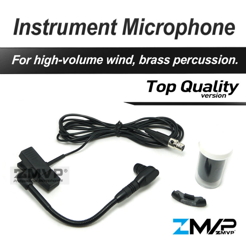 Free Shiping! W 98 HC Professional Brass Woodwinds Gooseneck Cardioid Condenser Instrument Microphone mini 3Pin XLR TA3F professional lapel violin condenser microphone music instrument microfone phantom connector for shure wireless system xlr mini