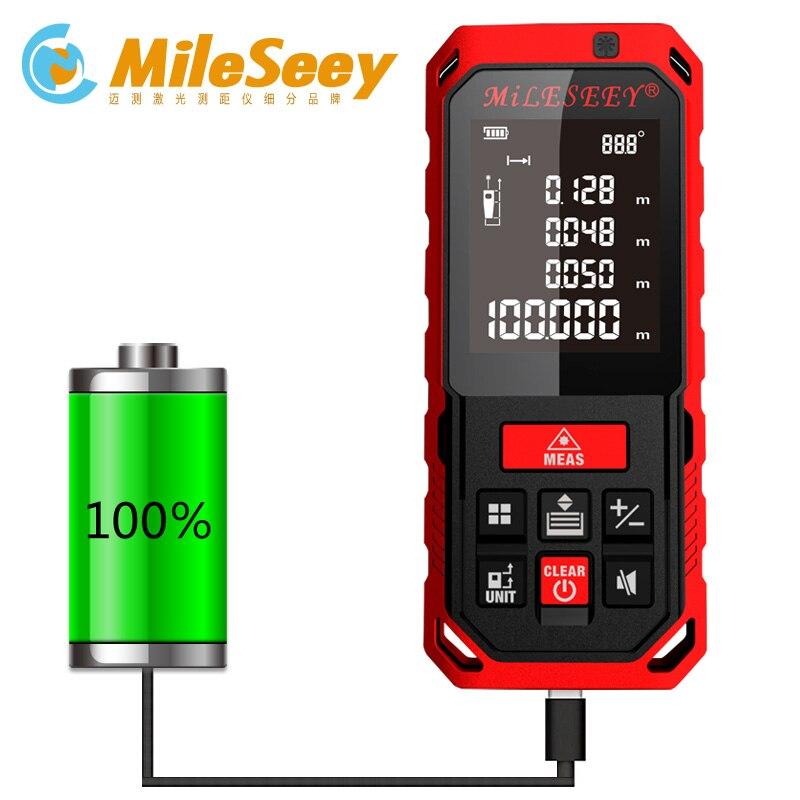 S7/S2 50 m 70 m 100 M 120 m recargable láser telémetro láser nuevo medidor de distancia láser medir el ángulo herramientas y accesorios osciloscopios rojo