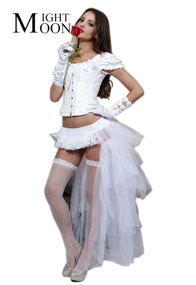 MOONIGHT New Women's Lady's Tail Organza Ballet Dance Tutu Skirt Halloween Party Costume Cosplay Skirt
