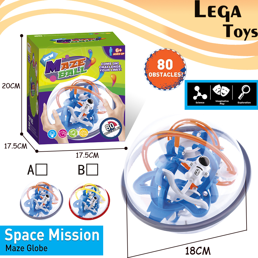 3D misión espacial Maze globe bola juguete del rompecabezas ...