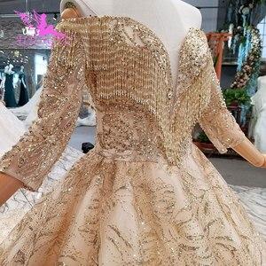 Image 4 - Aijingyu 구매 웨딩 드레스 두바이 가운 핫 온라인 파티 의류 수입 가운 중국 웨딩 드레스