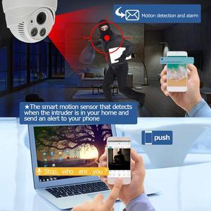 Image 4 - Cámara tipo domo de seguridad inteligente, dispositivo de visión nocturna a todo Color con movimiento activado, WiFi 1080P HD, CCTV de vigilancia interior, Audio bidireccional