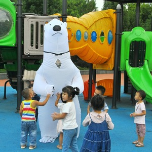 Image 3 - Inflatable Polar Bear Costume Mascot Costumes Animal Fantasias Adult Christmas  Halloween ThanksgiBirthday Party Cosplay Costume