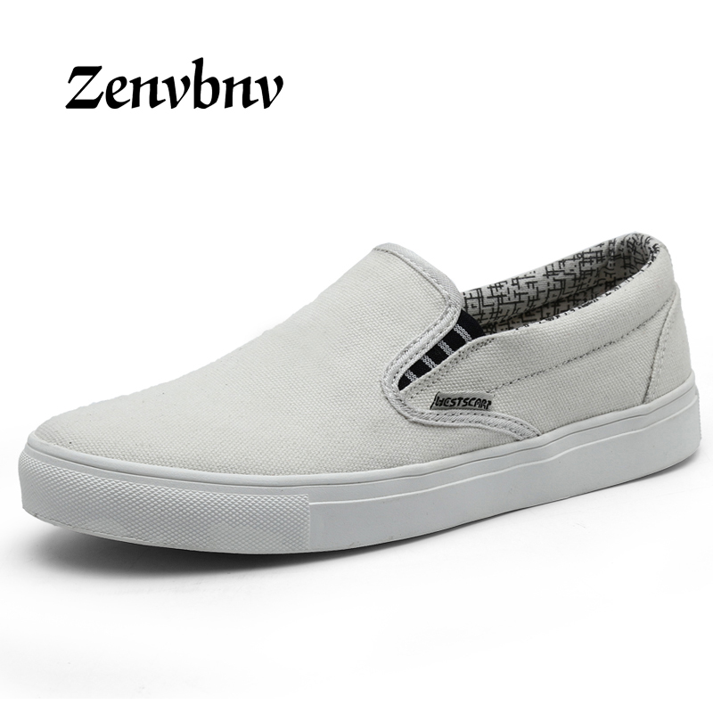 ZENVBNV 2018 New Style Men Casual Shoes Canvas Male Footwear Comfortable Flat unisex Shoes Slip on Vulcanized Shoes Men Loafers