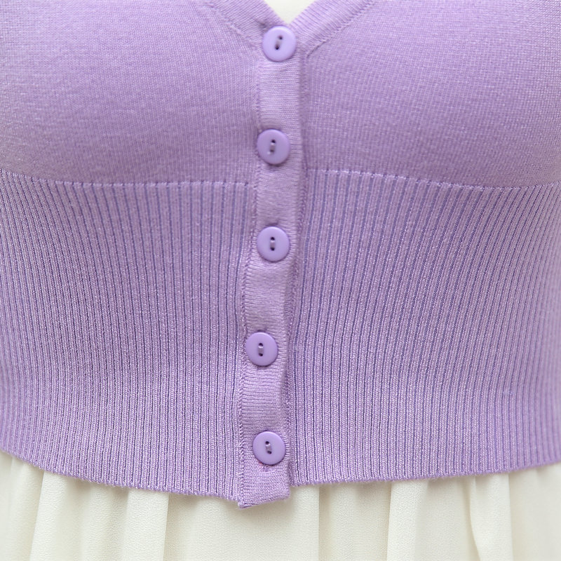 Women Knitting Bolero Short Cardigan Light Plain Color Purple Pink ...