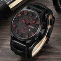 CURREN dos homens Top Marca de Luxo Relógios de Quartzo Esportes dos homens de Quartzo-Relógio Militar Pulseira de Couro Masculino Relógio de Moda nova Venda Presente