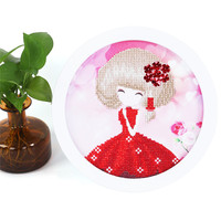 20 20 CM Round Frame Painting Puzzle 5D DIY Handmade Design Diamond Embroidery High Quality Creative