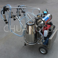 Double Bucket Diesel Engine Portable Milking Machine for Cow/Cattle/Goat/Buffalo/Sheep/Camel