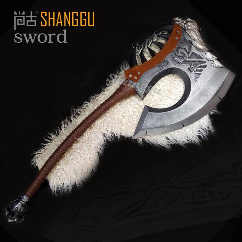 Monde de Warcraf Grom hurlement de Gorehowl guerriers tribaux Warsong Clan rugissement de sang Tomahawk épée