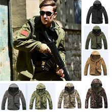 Outdoor camouflage Hunting Clothes Camping  Lurker Shark Skin Softshell Men Tactical Jacket Waterproof Windproof Jacket цены онлайн