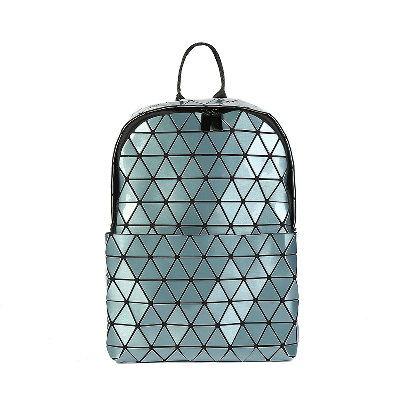 Diamond Lattice Backpacks Folding Portable Fashion Women Daily Bags Backpack New Geometric Joint Rucksack Girls School Bag