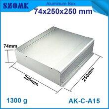 1 sztuka pole aluminium obudowa obudowa case diy pcb instrument box elektronicznego projektu