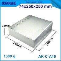 1 piece Aluminum box enclosure case diy pcb instrument box electronic project enclosure