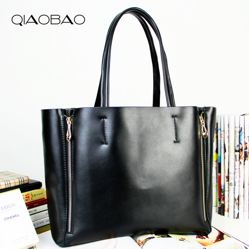 QIAOBAO 2018 New Arrived Quality Famous 100% Genuine Leather Bag Shoulder bag women handbag leather bags Brand Bags цена