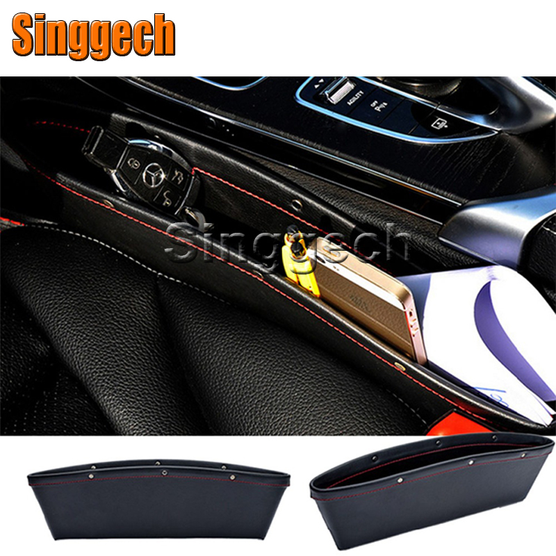 1Pcs Car Seat Gap Slit Pocket Box For Renault Duster Laguna Megane 2 3 Logan Captur Clio Lada Granta Kalina Priora Accessories for renault laguna 2 ii grandtour kg0 1
