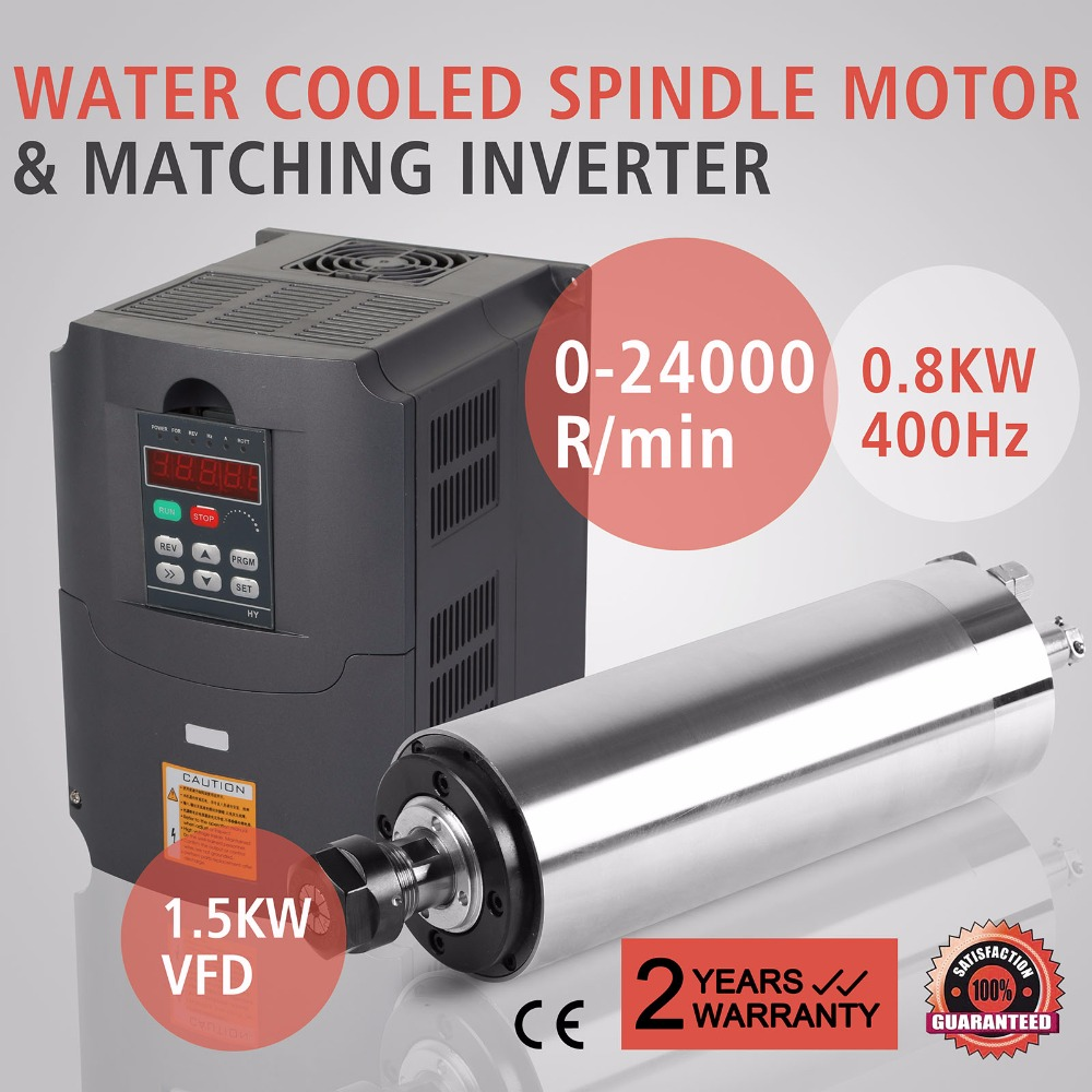 0 8kw Water Cooled Spindle Motor 1 5kw Vfd Spindle Motor