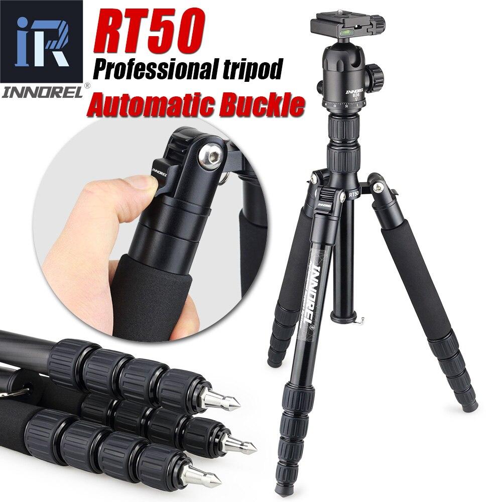 RT50 Professional Aluminum Alloy Tripod Monopod For Digital Dslr Camera Portable Camera Stand Compact 36mm Panoramic Ball Head