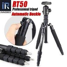 RT50 profesyonel alüminyum alaşımlı tripod monopod dijital dslr kamera için taşınabilir kamera standı kompakt 36mm panoramik topu kafa