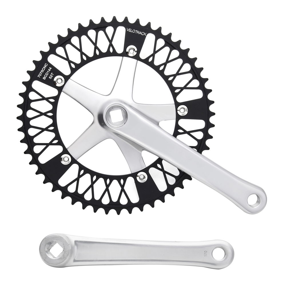цена на Fixed Gear Bike Crankset 52T chainwheel accessories Cranks Single Speed road Bicycle
