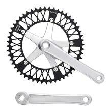 цена на Fixed Gear Bike Crankset 52T chainwheel accessories Cranks Single Speed road Bicycle