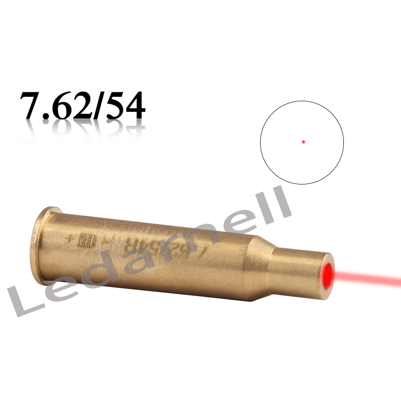 Laser Bore Sighter CAL 7.62X54 Copper Cartridge Red Laser Boresighter for Air soft Accessories