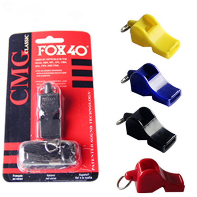 EDCGEAR fox40 Whistle Plastic FOX 40 Soccer Football Basketball Hockey Baseball Sports Classic Referee Whistle Survival Outdoor 2008 donruss sports legends 114 hope solo women s soccer cards rookie card
