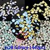 Fashion Point Back Rhinestones Ss28 6 0mm 1440pcs Resin Rhinestones 6 Color For Choose Round Point