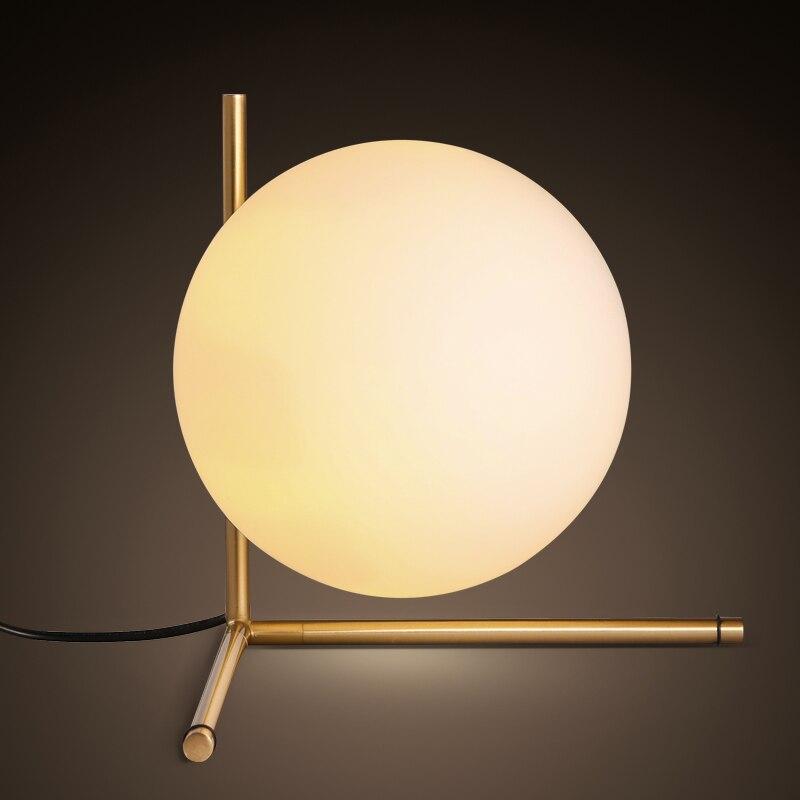 Lampe de table boule de verre style moderne lampe de chevet chambre minimaliste scandinave décoration personnalisée lampe boule
