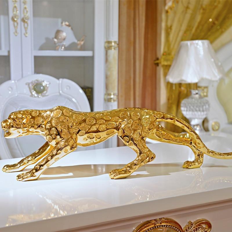Gold Leopard Resin Home Decoration Living Room Decoration High end Gift