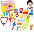 30 unids xfc niños junior médicos enfermeras médico conjunto de juguete caja de la medicina simulación papel play kit de aprendizaje de juguete de regalo