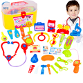 30pcs XFC Kids Doctor Nurses Medical Junior Set Toy Simulation Medicine Box Role Play Kit Learning Toy Gift