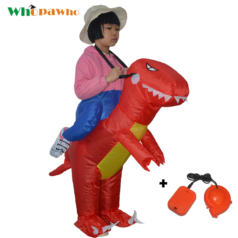 Purim Children Inflatable Dinosaur Cosplay Costumes Green Red Orange Halloween Inflatable Costume Mascot Party costume for Kids